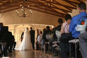 Wedding ceremony in beautiful chapel